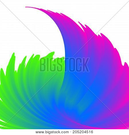 Vector illustration of abstract colorful rainbow wave background