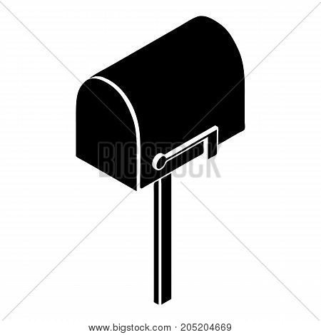 House postbox icon. Simple illustration of house postbox vector icon for web design isolated on white background