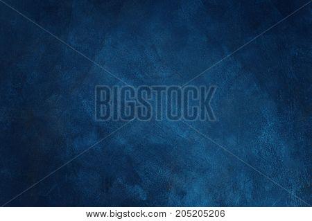 Abstract blue background or blue paper black vintage grunge background