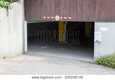 Entrance To An Old Garage