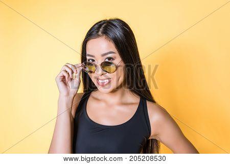 Asian Woman In Sunglasses