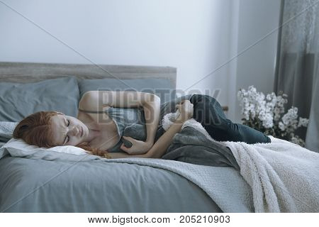 Teenager Having A Stomach Ache