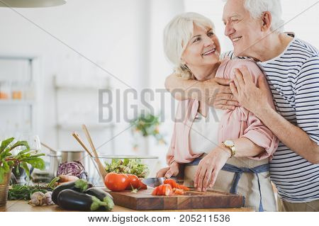 Happy Vegan Couple Is Making Lunch