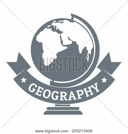 Geography logo. Simple illustration of geography vector logo for web