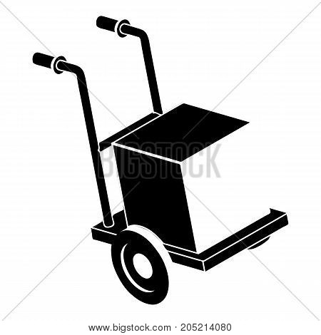 Delivery box cart icon. Simple illustration of delivery box cart vector icon for web design isolated on white background