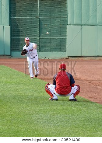 Boston - May 30: Starting Pitcher Jon Lester Warms Up Before Memorial Day Game Against The Chicago W