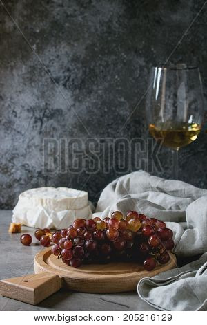 Grapes, Cheese And Wine
