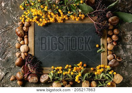 Autumn Berries With Chalkboard