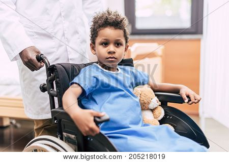 African American Boy In Wheelchair
