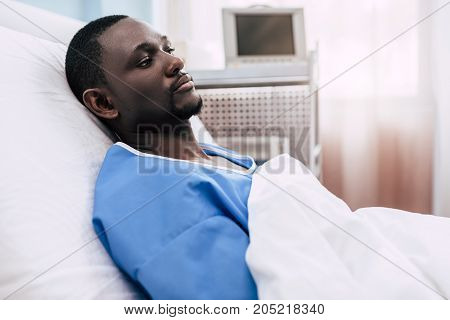 African American Man In Hospital