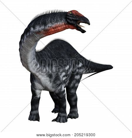3D Rendering Dinosaur Apatosaurus On White