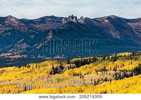 Autumn Scenery in the Rocky Mountains of Colorado - Ohio Pass