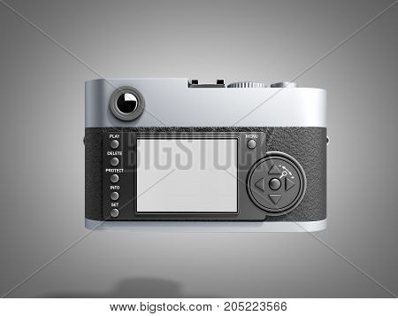 Old Photo Camera 3D Render On Grey Background