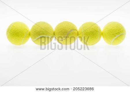 Tennis Balls In Row