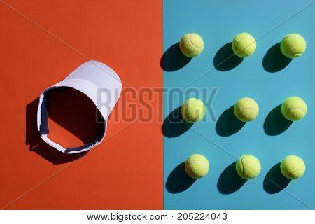 Tennis Visor And Balls