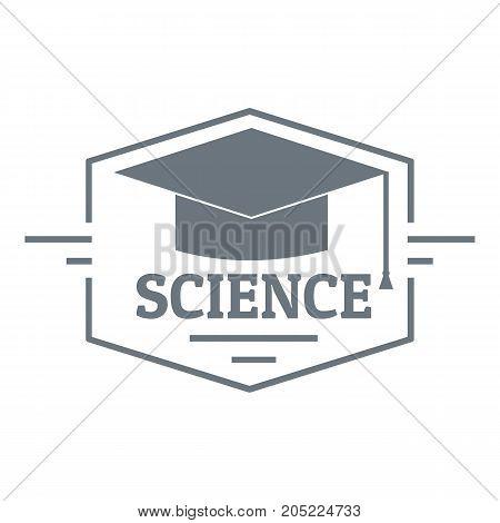 Graduation cap logo. Simple illustration of graduation cap vector logo for web