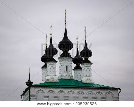 Top Of Old Church In Suzdal, Russia