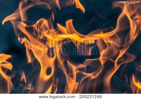 flame of fire as the background . Photo as an abstract background