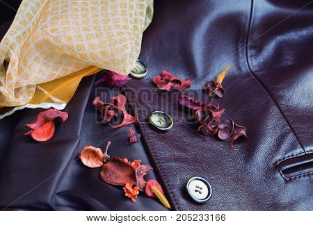 Preparation of the garments used in autumn when the heat disappears. autumn jacket