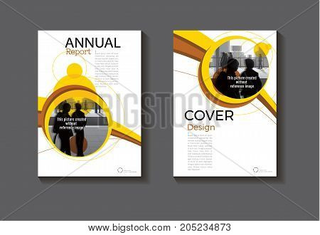 Yellow Circle abstract cover design modern book cover abstract Brochure cover templateannual report magazine and flyer layout Vector a4