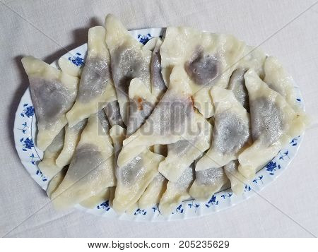 Platter Of Traditional Ukrainian Gnocchi
