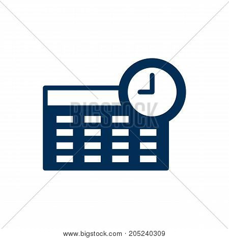 Vector Schedule Element In Trendy Style.  Isolated Timetable Icon Symbol On Clean Background.