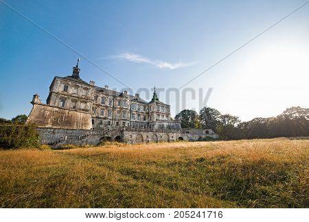 Pidhirtsi old palace in Ukraine Lviv  region