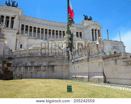 19.06.2017, Rome, Italy: Monument Of Victor Emmanuel: Altare Della Patria, Altar Of The Fatherland,