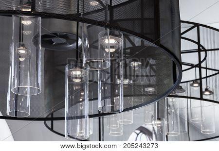 Contemporary Interior Design Fragment, Chandelier