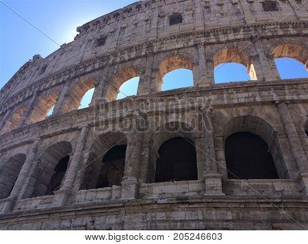 Colosseum Rome amphitheatre antiend old architecture construction
