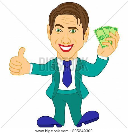 Men Holds The Dollar Bills