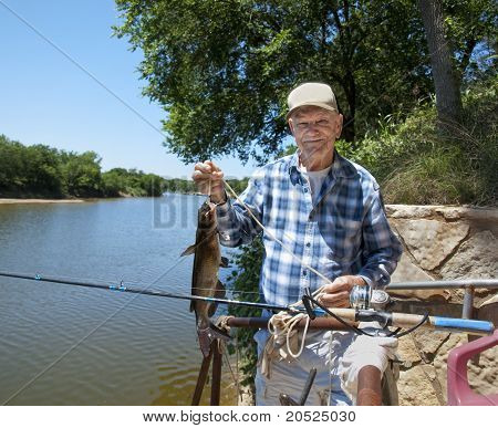Elderly Man with a Catfish