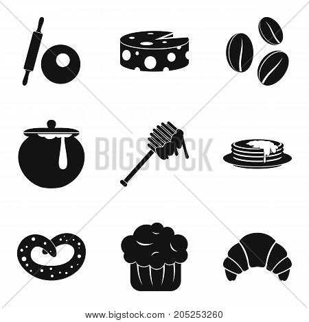Apiary icons set. Simple set of 9 apiary vector icons for web isolated on white background