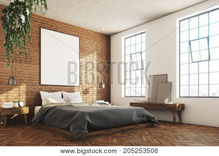 Brick Bedroom, Poster, Corner