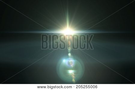 Abstract digital lens flare light.Beautiful sunlight effect.natural lens flare in space