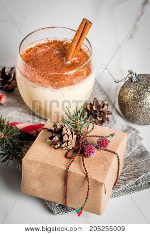 Christmas Table Setting With Eggnog