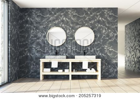 Marble Bathroom, Double Sink