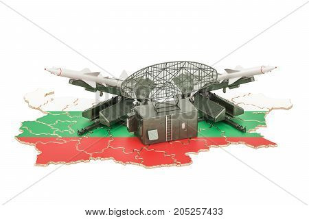Bulgarian missile defence system concept 3D rendering