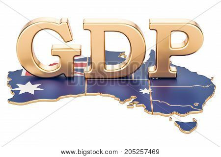 gross domestic product GDP of Australia concept 3D rendering isolated on white background