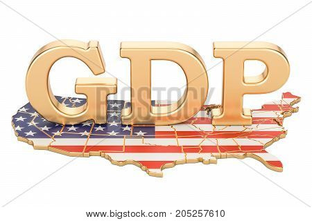 gross domestic product GDP of USA concept 3D rendering isolated on white background
