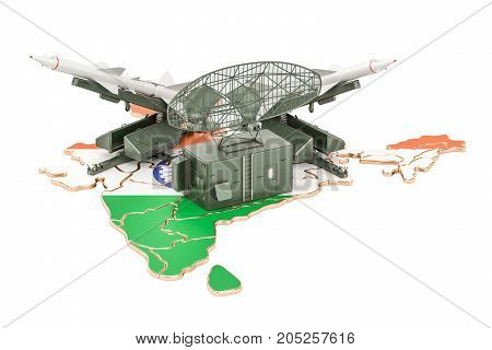 Indian missile defence system concept 3D rendering