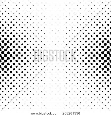 Monochrome square pattern - geometrical halftone abstract vector background graphic design from angular squares