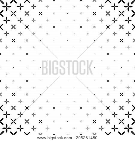 Monochrome star pattern - geometric abstract vector background design