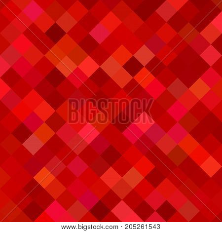Red abstract square pattern background - geometrical vector graphic from diagonal squares