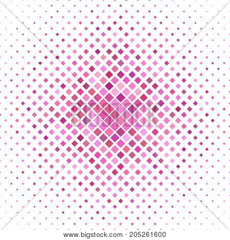 Colored abstract square pattern background - geometrical vector graphic from diagonal squares in pink tones
