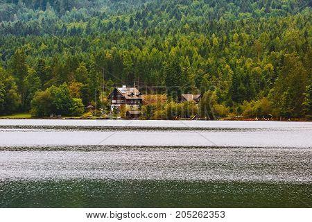 Houses On The Bank Of Lake