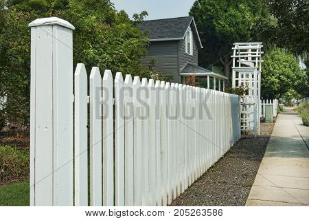 Picket Fence With Archway