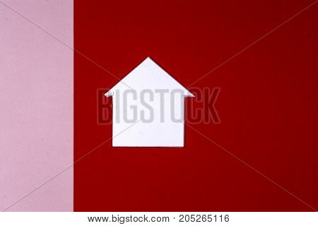 House And Key On Bright Colorful Background