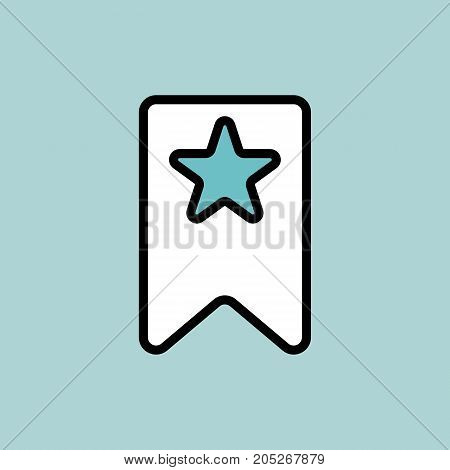 Bookmark Icon On Blue Background