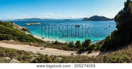 Praia De Nosa Senora On The Cies Islands Of Spain
